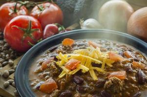 varm skål med chili foto