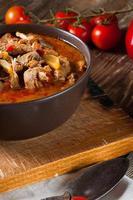 gulashsoppa med paprika.