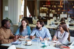 mötet med kollegor foto