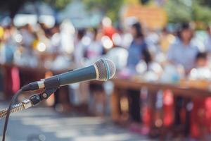 mikrofon i skolan foto