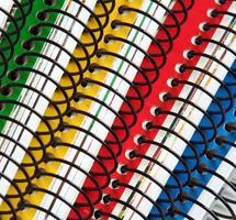färgglada anteckningsböcker foto