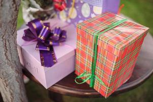 gåvor bröllop dekor foto