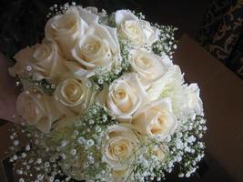 vit brudbukett foto