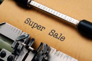 super försäljning foto