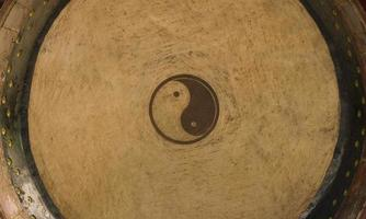 yin och yang trumma foto