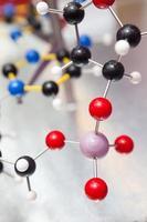vetenskap molekylär DNA-struktur, affärskommunikation anslutning koncept foto