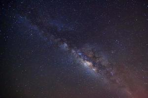 Vintergatan. lång exponering fotografi. foto
