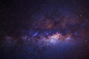 Vintergatan. lång exponering fotografi foto