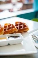 våffla till frukost foto