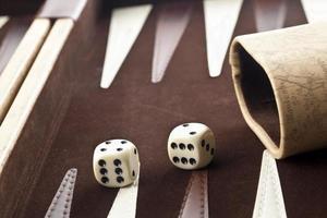 backgammon spel foto