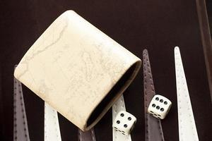 närbild skott av backgammon spel foto