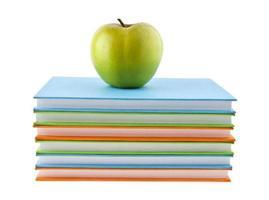 äpple och böcker foto