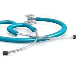 blått professionellt stetoskop foto