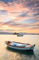 fiskebåtar, peloponnes, Grekland. foto