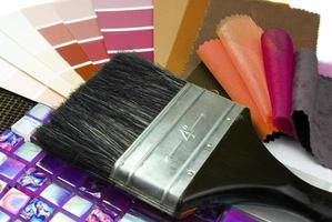 färgval och dekorationsplanering foto