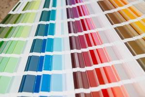 abstrakt bakgrund från färgguide. närbild foto