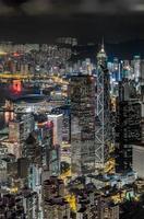 Hong Kong nattsikt från toppen foto