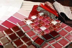 reparera dekoration planering klädsel tapet färg urval foto