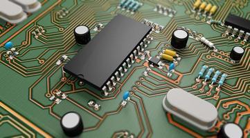 elektroniskt kretskort foto