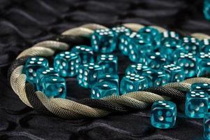 blå tärningar foto