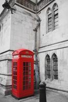 röd telefonlåda foto