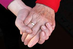 stödande hand foto