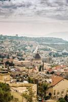 panorama över nazaret, Israel foto