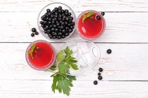 vinbär dryck. foto