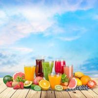 frukt, dryck, druva