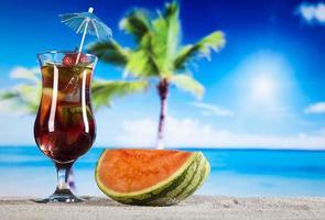 exotisk alkoholdrink foto