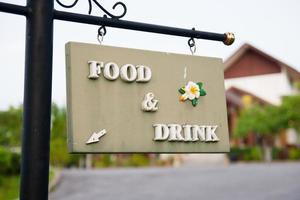 mat och dryck tecken foto