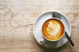 attraktiv cappuccino att dricka foto