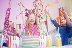 födelsedagsfest med de bästa vännerna foto