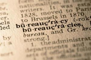 ordet byråkrati foto