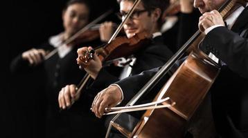 strängorkesterföreställning foto