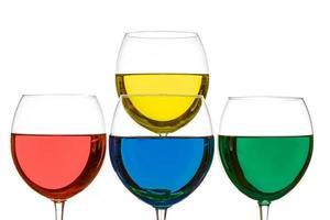 färgglada drycker foto