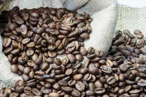 rostade kaffe i en påse