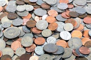 amerikanska mynt bakgrund foto