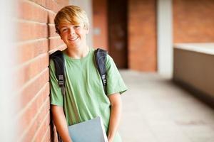 tonåring student i skolan