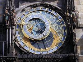 astronomisk klocka, prag gamla stan foto