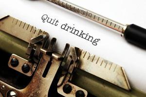 sluta dricka foto