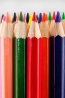färgpennor närbild