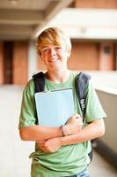 manlig tonåring student porträtt foto
