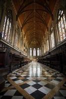interiör i kungens college kapell, cambridge foto