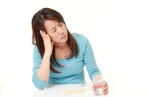 japansk kvinna lider av melankoli foto