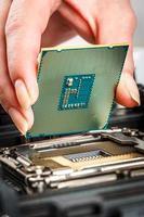 modern processor och moderkort foto