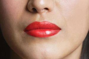 kvinnans mun foto