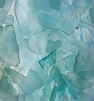vattenblått havsglas foto