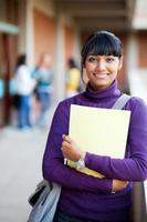 indisk gymnasieflicka foto