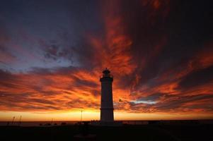 morgon eld på himlen foto